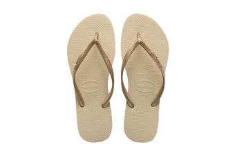 Havaianas Slim Thongs (Sand Grey/Light Golden)