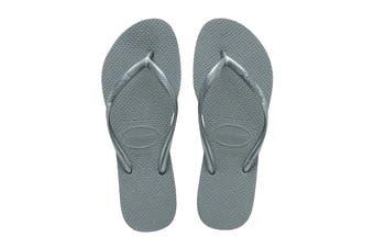 Havaianas Slim Thongs (Silver Blue)
