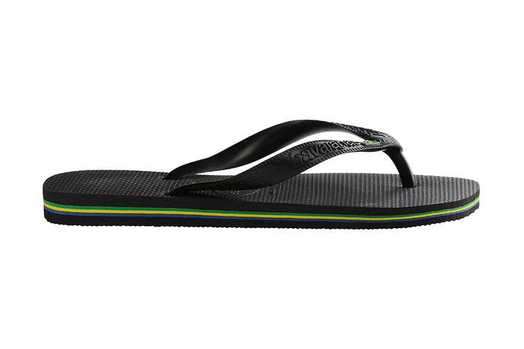 Havaianas Brasil Thongs (Black, Size 41/42 BR)