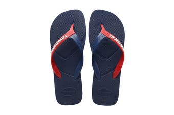 Havaianas Casual Thongs (Navy Blue Blue/Red)