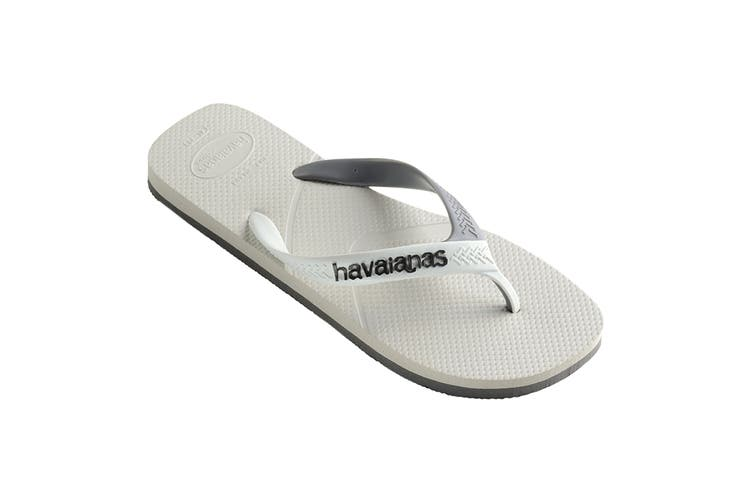 Havaianas Casual Thongs (White/Grey, Size 37/38 BR)
