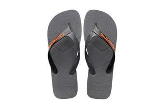 Havaianas Casual Thongs (Steel Grey/Black, Size 43/44 BR)
