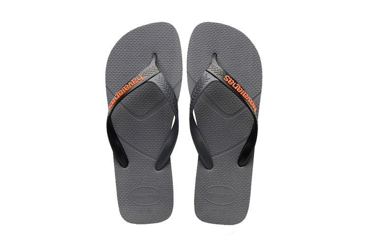 Havaianas Casual Thongs (Steel Grey/Black, Size 39/40 BR)