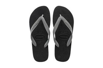 Havaianas Color Mix Thongs (Black/Steel Grey, Size 39/40 BR)