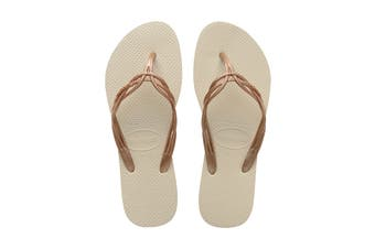 Havaianas Flash Sweet Thongs (Beige)
