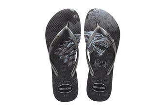 Havaianas Game of Thrones FC Slim Thongs (Black, Size 39/40 BR)