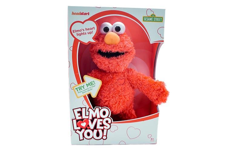 Sesame St Elmo Loves You Plush