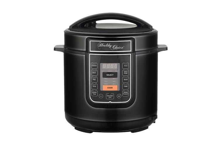 Healthy Choice Pressure Cooker - Black (PC600B)