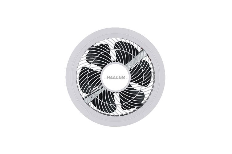 Heller 250mm Ball Bearing Exhaust Extractor Fan with Light - White (HEX250L)