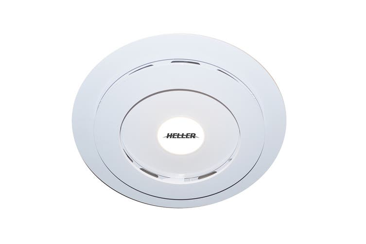 Heller 250mm Ball Bearing Retractable Exhaust Fan with Light - White (RF250L)