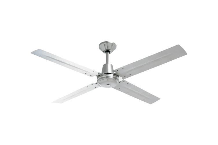 Heller 1200mm 4 Blade Ceiling Fan - Brushed Stainless Steel (TYLER)
