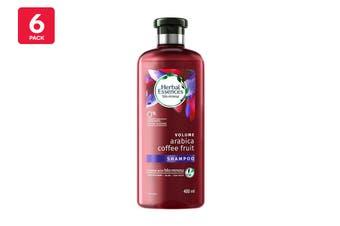 Herbal Essences 400ml Shampoo Volume Arabica Coffee Fruit (6 Pack)