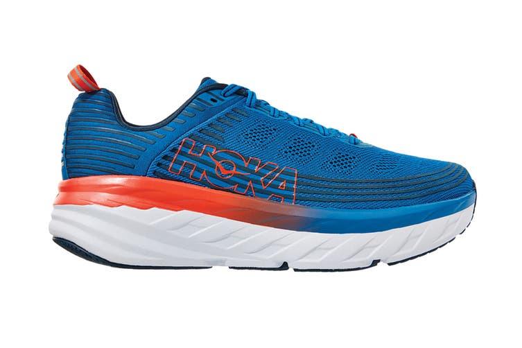 Hoka One One Men's Bondi 6 Running Shoe (Imperial Blue/Majolica Blue, Size 7)