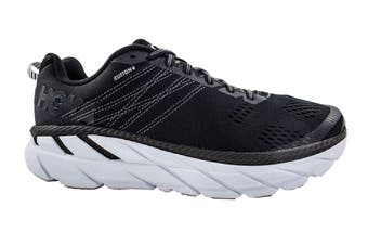Hoka One One Men's Clifton 6 Running Shoe (Black/White, Size 8 US)