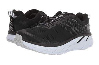 Hoka One One Men's Clifton 6 Running Shoe (Black/White)