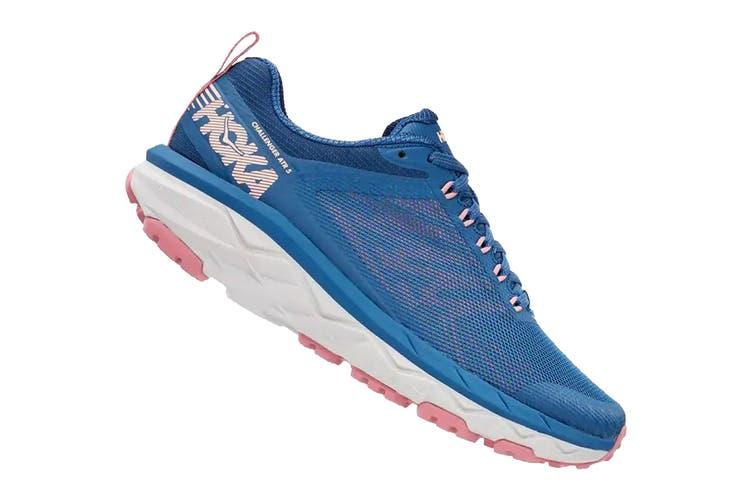 Hoka One One Women's Challenger ATR 5 Trial Running Shoe (Dark Blue/Cameo Brown, Size 8 US)