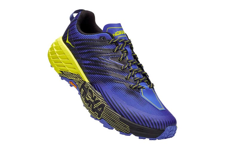 Hoka One One Men's Speedgoat 4 Running Shoe (Black Iris/Evening Primrose, Size 10 US)