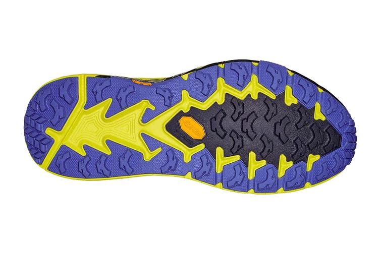 Hoka One One Men's Speedgoat 4 Running Shoe (Black Iris/Evening Primrose, Size 11 US)