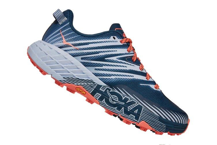 Hoka One One Women's Speedgoat 4 Running Shoe (Majolica Blue/Heather, Size 8.5 US)