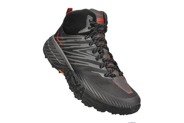 Hoka One One Men's Speedgoat Mid 2 GTX Hiking Shoe (Anthracite/Dark Gull Grey, Size 7 US)