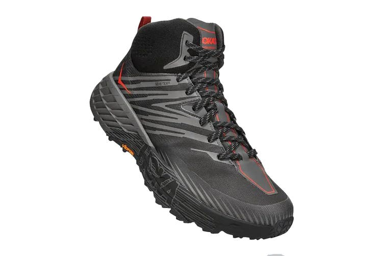 Hoka One One Men's Speedgoat Mid 2 GTX Hiking Shoe (Anthracite/Dark Gull Grey, Size 8 US)