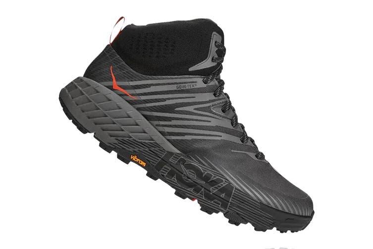 Hoka One One Men's Speedgoat Mid 2 GTX Hiking Shoe (Anthracite/Dark Gull Grey, Size 9.5 US)