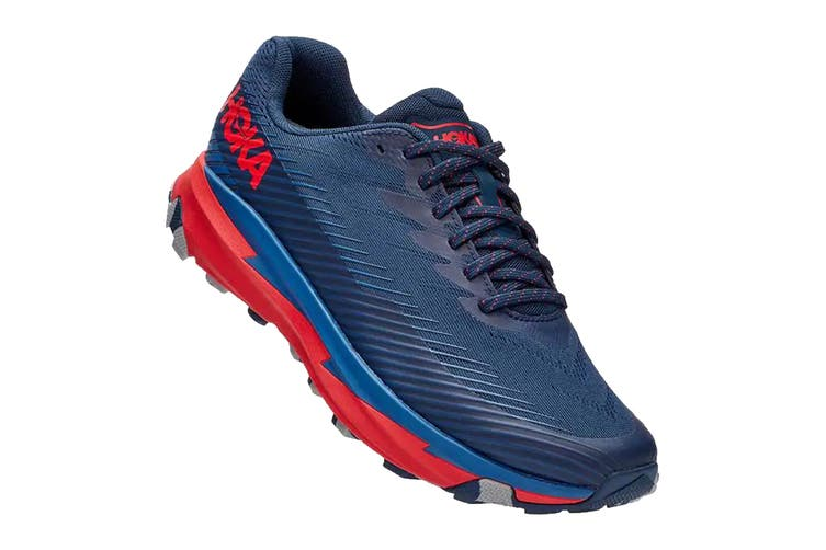Hoka One One Men's Torrent 2 Running Shoe (Moonlit Ocean/High Risk Red, Size 10 US)