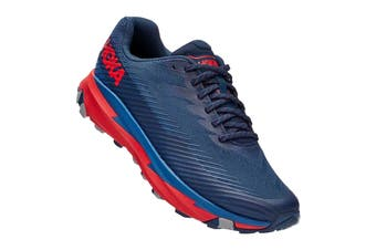 Hoka One One Men's Torrent 2 Running Shoe (Moonlit Ocean/High Risk Red, Size 11 US)