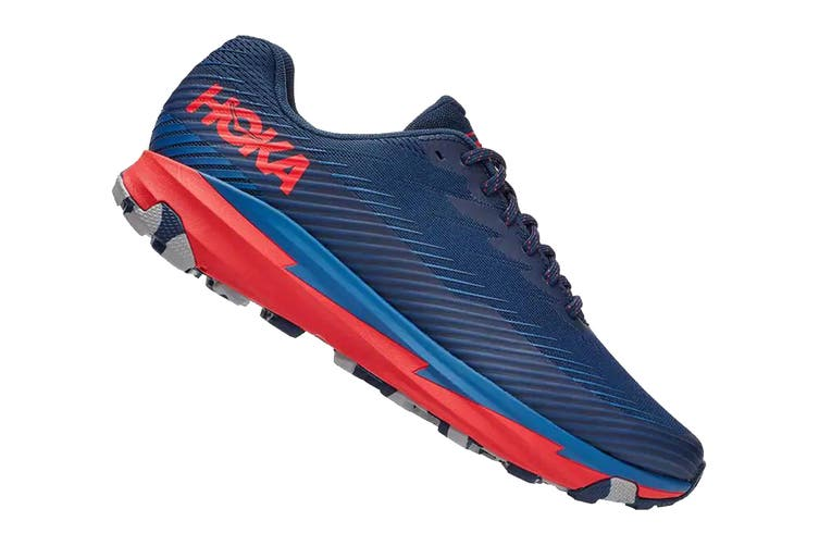 Hoka One One Men's Torrent 2 Running Shoe (Moonlit Ocean/High Risk Red, Size 9.5 US)