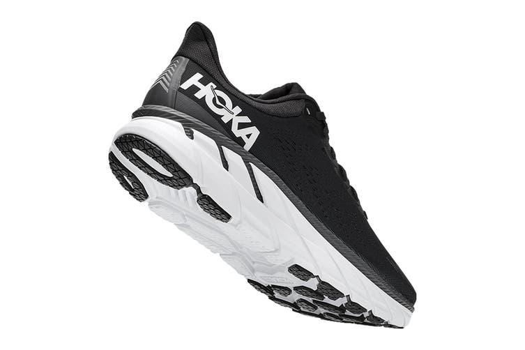 Hoka One One Men's Clifton 7 Running Shoe (Black/White, Size 11.5 US)
