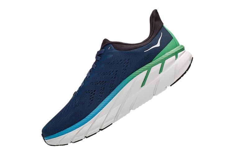 Hoka One One Men's Clifton 7 Running Shoe (Moonlit Ocean/Anthracite, Size 11 US)