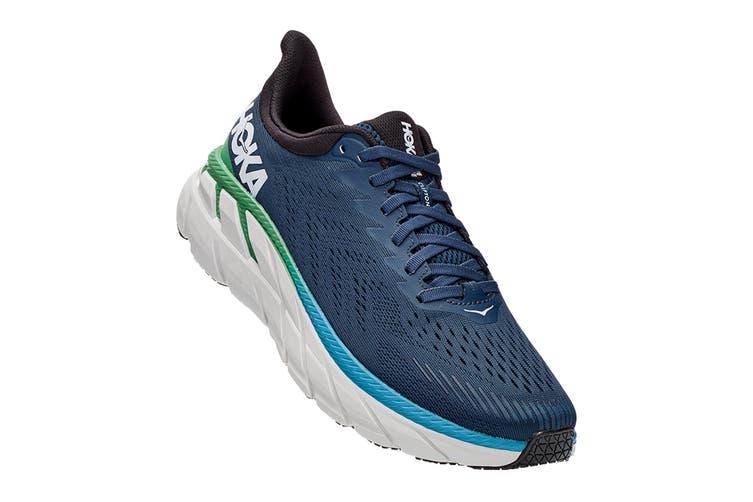 Hoka One One Men's Clifton 7 Running Shoe (Moonlit Ocean/Anthracite, Size 7 US)
