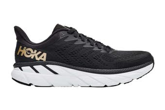 Hoka One One Women's Clifton 7 Running Shoe (Black/Bronze, Size 10 US)