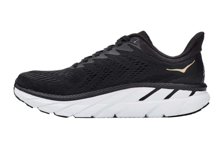 Hoka One One Women's Clifton 7 Running Shoe (Black/Bronze, Size 10 US)