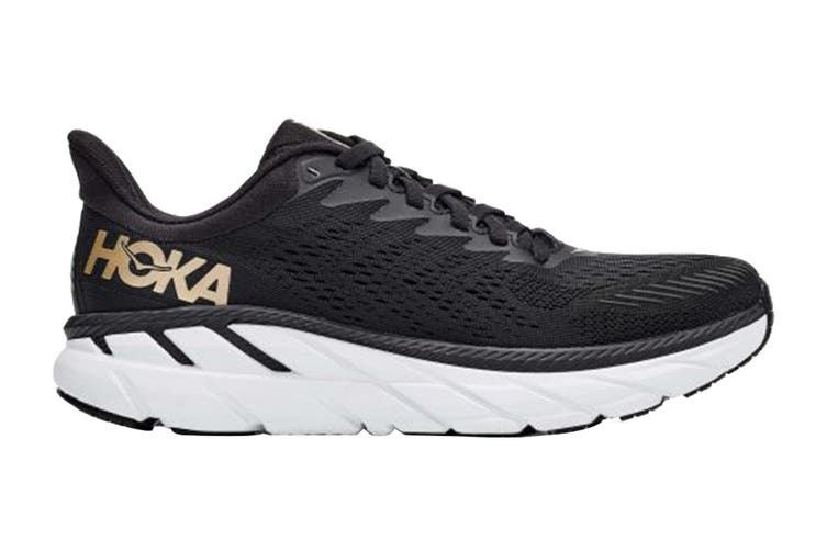 Hoka One One Women's Clifton 7 Running Shoe (Black/Bronze, Size 9.5 US)