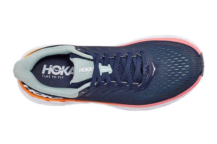 Hoka One One Women's Clifton 7 Running Shoe (Black Iris/Blue Haze, Size 6.5 US)