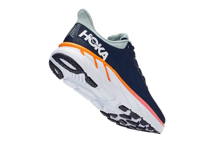 Hoka One One Women's Clifton 7 Running Shoe (Black Iris/Blue Haze, Size 7.5 US)