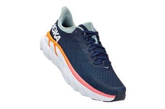 Hoka One One Women's Clifton 7 Running Shoe (Black Iris/Blue Haze)