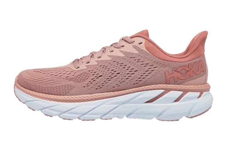 Hoka One One Women's Clifton 7 Running Shoe (Misty Rose/Cameo Brown, Size 10 US)