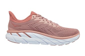 Hoka One One Women's Clifton 7 Running Shoe (Misty Rose/Cameo Brown, Size 9 US)