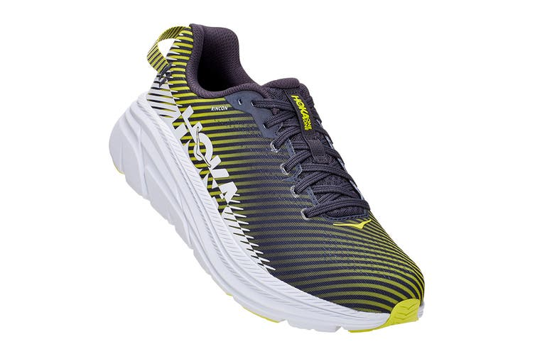 Hoka One One Men's Rincon 2 Running Shoe (Odyssey Grey/White, Size 9.5 US)