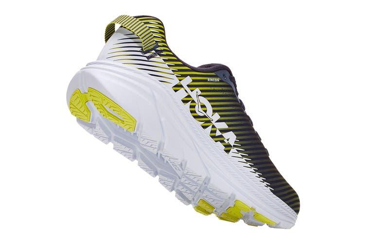 Hoka One One Men's Rincon 2 Running Shoe (Odyssey Grey/White, Size 9 US)