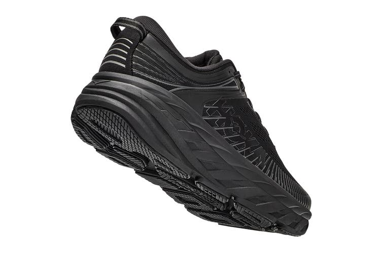 Hoka One One Men's Bondi 7 Running Shoe (Black/Black, Size 10.5 US)