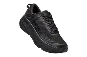 Hoka One One Men's Bondi 7 Running Shoe (Black/Black, Size 10 US)