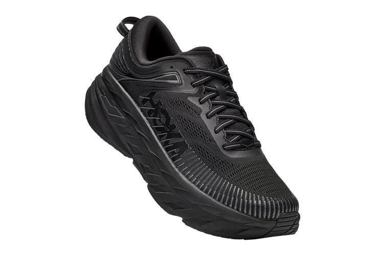 Hoka One One Men's Bondi 7 Running Shoe (Black/Black, Size 10 US)
