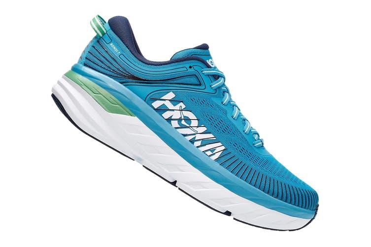 Hoka One One Men's Bondi 7 Running Shoe (Blue Moon/Moonlit Ocean, Size 13 US)