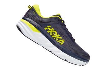 Hoka One One Men's Bondi 7 Running Shoe (Odyssey Grey/Deep Well, Size 10.5 US)