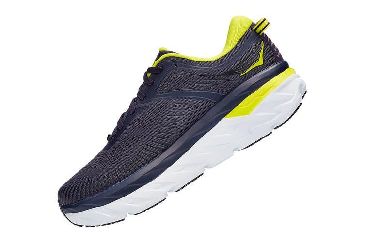Hoka One One Men's Bondi 7 Running Shoe (Odyssey Grey/Deep Well, Size 8.5 US)