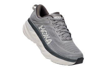 Hoka One One Men's Bondi 7 Running Shoe (Wild Dove/Dark Shadow)