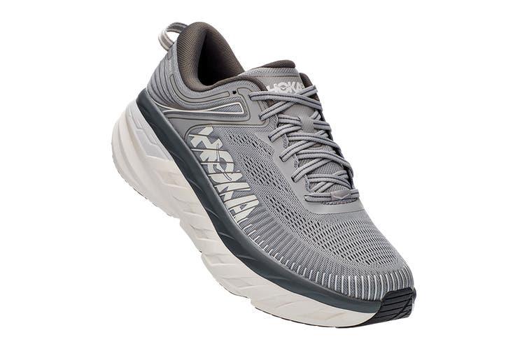 Hoka One One Men's Bondi 7 Running Shoe (Wild Dove/Dark Shadow, Size 8.5 US)